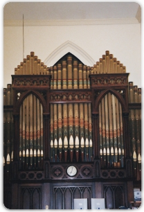Hook Pipe Organ at Winthrop St. Baptist Church, Taunton, MA.